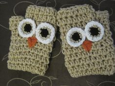 owl gloves kids 10.00adults 15.00 by MadewithlovebyFatima on Etsy, $15.00