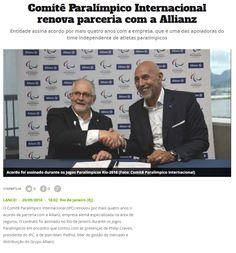 Título: Comitê Paralímpico Internacional renova parceria com a Allianz Veículo: O Lance Online Data: 20/09/2016 Cliente: Allianz