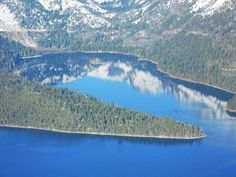 Emerald Bay, Lake Tahoe, as viewed from the Hot Air Balloon.