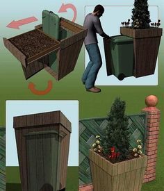 httppaprclub another cool link is callmeahomocom kliko bak verstopt onder een grote houten bloembak - PIPicStats Outdoor Spaces, Outdoor Living, Outdoor Decor, Outdoor Projects, Garden Projects, Back Gardens, Outdoor Gardens, Exterior, Garden Inspiration