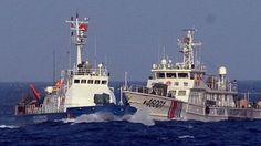 tàu trung quốc 46001 hung hăng đâm vào tàu chấp pháp của việt nam