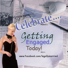 """Engagement or Proposal Vow & Ceremony... Yes, Celebrate """"Getting Engaged"""" with Dr. Linda's """"Pop The Question"""" Words and more! www.facebook.com/legallymarried"""