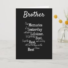 **best Brother Ever** Happy Birthday Card Unique Birthday Wishes, Birthday Wishes For Brother, Birthday Wishes Quotes, Birthday Gifts For Best Friend, Gifts For Brother, Happy Birthday Cards, Birthday Greetings, Brother Poems, Sister Qoutes