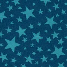 Stoff & Liebe – Kinderstoffe & Unikate | Stars no Stripes Du´türkis auf Petrol | Stoffe online kaufen