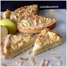 Crostata con crema mele e cocco