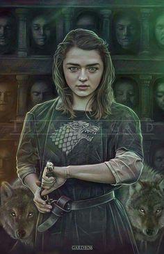 Arya Stark of Winterfell by theARtofGARD.