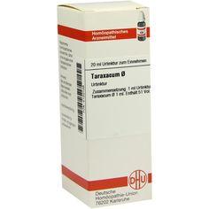 TARAXACUM Urtinktur:   Packungsinhalt: 20 ml Dilution PZN: 02120139 Hersteller: DHU-Arzneimittel GmbH & Co. KG Preis: 7,38 EUR inkl. 19 %…
