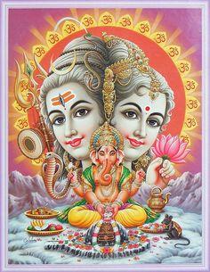 Shiva and Shakti are indistinguishable. They are the universe. Shiva isn't masculine. Shakti isn't feminine. At the core of their mutual penetration the supreme consciousness opens. Shiva Parvati Images, Shiva Hindu, Lord Shiva Hd Images, Shiva Art, Hindu Deities, Krishna Radha, Hindu Art, Lord Ganesha Paintings, Lord Shiva Painting