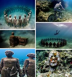 Jason de Caires Taylor and his underwater, environmental masterpieces in Cancun or Grenada