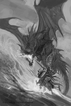"""""""Dracopedia"""" by William O'Connor* • Blog/Website   (http://dracopediaproject.blogspot.com) • Online Store   (https://www.amazon.com/Dracopedia-Guide-Drawing-Dragons-World/dp/1600613152) ★    CHARACTER DESIGN REFERENCES™ (https://www.facebook.com/Chara"""