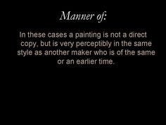 Glossary entry: 'Manner of'