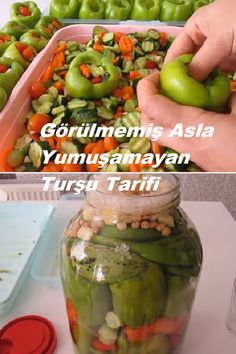 Turkish Recipes, Pickles, Cucumber, Good Food, Food And Drink, Canning, Drinks, Bees, Garten