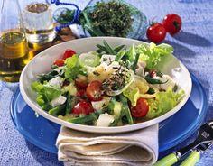 Unser beliebtes Rezept für Grüne Bohnen-Tomatensalat und mehr als 55.000 weitere kostenlose Rezepte auf LECKER.de.