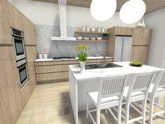 long narrow kitchen Who said a narrow kitchen couldnot fit all one needs? We are here to prove them wrong, as we found enough long narrow kitchen layout ideas to go around. Kitchen Layout Plans, Small Kitchen Layouts, Kitchen Design Open, New Kitchen Designs, Kitchen Modern, Long Narrow Kitchen, Open Kitchen And Living Room, Kitchen Dining, Dining Room