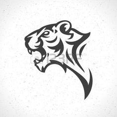 abstract tiger: Tiger face icon emblem template mascot symbol for business or shirt design. Vector Vintage Design Element. Illustration