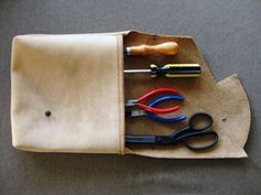 Stud pouch  Bone leather by scabbyrobot on Etsy, $88.00