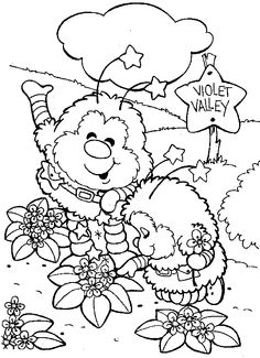 Rainbow Brite - 999 Coloring Pages Unicorn Coloring Pages, Coloring Book Pages, Printable Coloring Pages, Coloring Sheets, Precious Moments Coloring Pages, Care Bear Party, Coloring Pages For Kids, Kids Coloring, Elves Fantasy