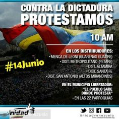 @Regrann from @unidadvenezuela - #ATENCION ¡Seguiremos en las calles! Este #14Jun a las 10 AM reiteraremos nuestra lucha #ContraLaDictadura en los principales distribuidores - #regrann