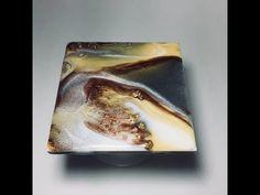RESIN ART coaster set w/ golds, grey and bronze Metallics & Pigments - YouTube