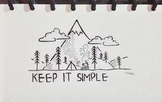 easy drawings simple keep drawing pencil doodle writing
