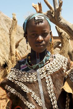 Africa | Young Bana women photographed at Dimeka Market, south Ethiopia | ©  Georges Courreges