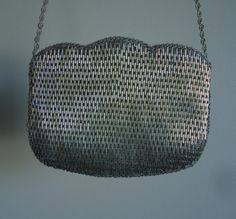 Vintage 1960s Beaded Silver Evening Clutch on Etsy, $74.37 CAD