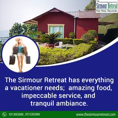 The Sirmour Retreat is a quite attractive #Resort in #HimachalPradesh.🏔️ This resort gives various facilities like amazing #Food, #PoolTable, #MovieTheatre, #GardenGym for #Tourists. Visit: 👉https://goo.gl/uGFhef Contact Us☎️ 91-9313002006 / +91-9313202006