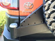 FJ Cruiser Trail Series Rear Bumper with Smooth Motion STC System, smooth motion tire carrier, expedition one rear bumper, FJ Cruiser aftermarket bumper Fj Cruiser, 4x4, Toyota, Trail, Cars, Ideas, Autos, Car, Automobile