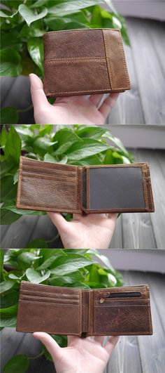 Mens Leather Wallet Personalized Mens Wallet by CityOfGod