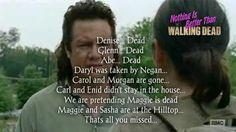 The Walking Dead Season 6 Episode 7 'Swear' - Eugene tells Tara what happened in the last two weeks.