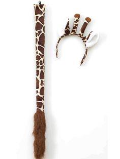 Giraffe Ears & Tail Set | Halloween Costume Kits Accessories