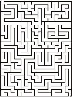 Printable 21x28 Maze for Kids