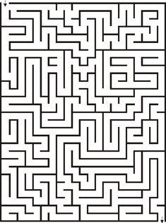 Printable 21x28 Maze for Kids