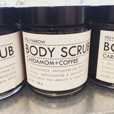 #brighten up and #invigorate your #skin with #figandyarrow #coffee and #cardomom #body #scrub #breaks down #cellulite and #stimulates #blood #flow for #fresh #new #skin #cells www.littlelab.co.uk Essential Oil Blends, Essential Oils, Fig And Yarrow, Body Scrub, Cellulite, Flow, Fresh, Coffee, Body Scrubs