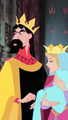 Sleeping Beauty, King Estefano and the queen, when they hear that their baby girl will have a curse upon her-plot