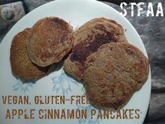 Mary Kate's got Apple Cinnamon Pancakes using apple flour today on the blog - #vegan #glutenfree #allergyfriendlyApple Cinnamon Gluten-free Vegan Pancakes