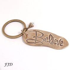 Hand-Stamped Bronze Key Chain, Key Ring - Believe | Felicity Jewelry Designs, Handmade Jewelry, Fashion Jewelry