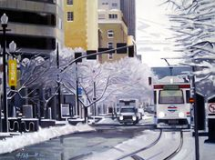 Winter Dreaming - oil on canvas Oil On Canvas, Paintings, Winter, Outdoor, Outdoors, Paint, Painted Canvas, Painting Art, Painting