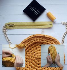 Crochet Handbag Tutorial Have fun crocheting this wonderful handbag! Crochet Scarf Tutorial, Crochet Basket Tutorial, Crochet Diy, Crochet Round, Crochet Ideas, Crochet Bikini, Crochet Shell Stitch, Crochet Stitches, Crochet Patterns