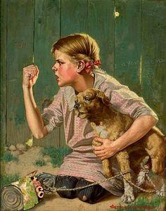 Humphrey, Walter Beach (b,1892)- Dog w Cans on Tail -2a