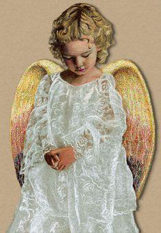 анимационные дети ангел хранитель - анимационные картинки