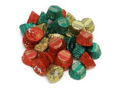 Reese's Christmas Peanut Butter Cups - 2 lb bulk bag. Reese's Peanut Butter Cups, miniature peanut butter cups in milk chocolate. They are individually wrapped in red, green and gold foil for Christmas. A 2 lb bag has about 98 cups. Christmas Candy: more choices >>> Orders placed by midnight usually ship on the next business day.. Price: $13.99