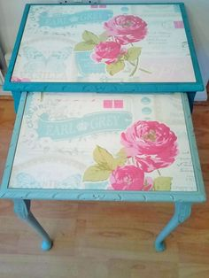 Shabby Chic Nest Of tables (Please Read Delivery Note Below Before Buying!)