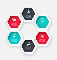 Hexagon for infographic vector Circle Infographic, Infographic Templates, Free Vector Images, Vector Free, Circle Diagram, Circle Arrow, Process Chart, Computer Vector, Vector Online