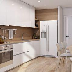 Kitchen Room Design, Kitchen Sets, Home Decor Kitchen, Interior Design Kitchen, Interior Decorating, Modern Kitchen Cabinets, Elegant Living Room, Interior Exterior, Scandinavian Interior