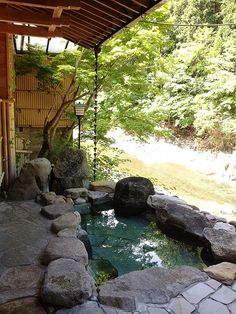 Japanese Outdoor Spa.
