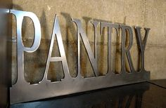 SALE details below Metal PANTRY sign to add by HighCountryInd