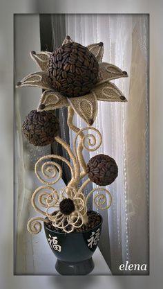 Волшебная мешковина.Идеи для творчества,рукоделия. — Поделки из мешковины,джута и кофе.   OK.RU