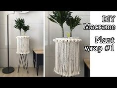 How to Plant Potted Flowers Outdoors in the Soil : Garden Space – Top Soop Macrame Art, Macrame Projects, Macrame Knots, Macrame Wall Hanger, Arts And Crafts For Adults, Plant Covers, Pot Hanger, Macrame Tutorial, Boho Diy