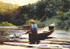 Pesca del muchacho - de Winslow Homer